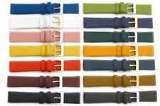 Fine Calf Leather Watch Strap Band Choice of Colours 16mm 18mm 20mm