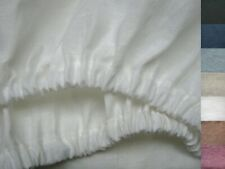Linen Fitted Sheet Pure Flax 100% White Light Gray Grey Oatmeal USA Sizes