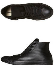 New Converse Womens Chuck Taylor All Star Hi Top Leather Shoe Black