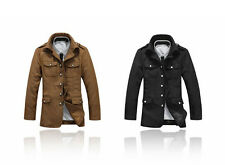 New! Men's Fashion Casual Button up Jacket Military Style Coat Slim Fit PK97