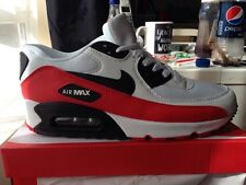 New men's nike air max 90 trainers . White-black-red. Other sizes available
