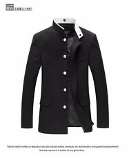 Men Tunic Jacket Single Breasted Blazer Oriental School Uniform Gakuran Buttons