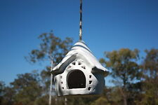 Balinese Hand Crafted Hanging Bird House Feeder - Hanging Fairy Tree House