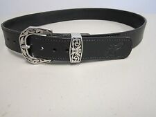 """Braids Holsters 1 1/2"""" gun belt, heavy duty bridle leather,stainless buckle"""