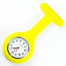 Brand New Silicone Nurse Fob Watch Brooch Tunic Type Watch With A Free Battery