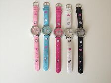 HELLO KITTY LEATHER STRAP KIDS CHILDRENS QUARTZ WRIST WATCH *SEE SPECIAL OFFER*