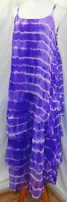 JESSICA TAYLOR WOMEN PLUS 1X 2X 3X PURPLE WHITE TIE DYE CHIFFON LAYERED DRESS