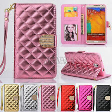 Bling Diamond Glossy PU Leather Handbag Wallet Case For Samsung Galaxy S Note