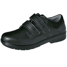Ricosta William Boys Black Leather School Shoes Wide Fit - 100% Positive Reviews