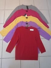 TALBOTS Audrey 3/4 Sleeve Crew Neck 100% Pure Cashmere Sweater NWT $139