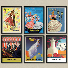 A2 Vintage Travel Posters: Spanish Spain Poster Set