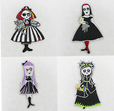 Brand New Punk Rock Halloween Witch Embroidered Applique Iron On Patch For DIY
