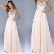 Sexy Women Long Formal Evening Ball Gown Party Prom Bridesmaid Sequins Dress