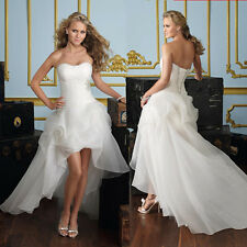 New White Bridal Formal Evening Party Ball Gowns Prom Bridesmaid Wedding Dress