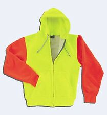 Mens Thermal Hi-Vis Extra Hwt Zipper Hood Sweatshirt