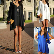 Women Summer Sexy Chiffon Casual Party Evening Cocktail Short Dress