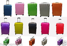 4 Wheeled Spinner  Hard Shell ABS Luggage Trolley Case Cabin Carry On Hand