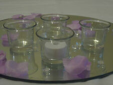 Choice of 4, 8,12 or 24 Clear Glass Tealight Tea Light Candle HOLDER ONLY