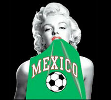 Marilyn Monroe Sexy American Icon Mexico Mexican Soccer Futbol Funny T-Shirt Tee
