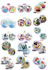 "22"" QUALATEX BUBBLES See Through Round Helium Birthday Party Character Balloons"