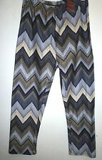 Woman's Girls Gray Beige Cotton Leggings M/L NEW