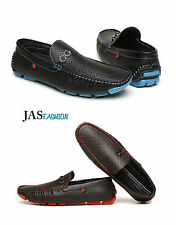 NEW Men`s Loafers Slip On Driving Shoes Black Brown Suede Moccasins Sizes 6-12