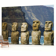 Easter Island Moai Landscape  PHOTO WALLPAPER WALL MURAL PICTURE (W1282VE)