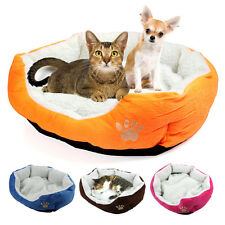 Pet Dog Puppy Cat Soft Fleece Cozy Warm Nest Bed House Mat Pad
