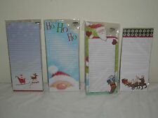 "HOLIDAY ""SANTA "" MOTIF MAGNETIC NOTE/LIST PADS - LINED - YOU CHOOSE (NEW)"