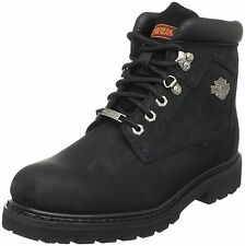 Harley Davidson BADLANDS Leather Men Boots Black Motor Bike