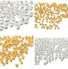 Silver/ Gold Plated Round Spacer Loose Beads Charms Findings 3/ 4/ 6/ 8/ 10mm