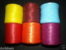 10 or 20 METERS COLOR RAFFIA RIBBON. MANY COLORS