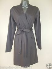 ♥New Ladies Ex Store Dressing Gown Bath Robe Wrap Soft Cotton Size 8-26 Mink