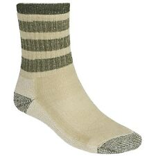 SmartWool STRIPED HIKE Midweight Crew Socks Mens/Womens NWT Oatmeal/Loden