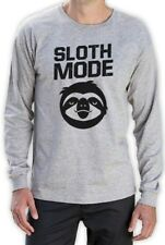 Sloth Mode Long Sleeve T-Shirt Funny Lazy Cute Beast Workout Parody Ask Me Why