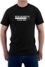 Installing Muscles Please Wait T-Shirt Gym Workout Lifting Training Crewneck Tee