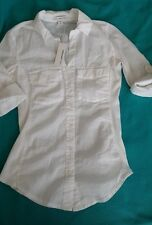 James Perse Button up shirt women's 0 XS  White NWT
