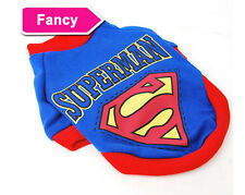 Fancy Pet Cat Dog Puppy Clothes Costume Superman Suit size XS/S/M/L/XL A