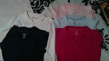 Lot of 5 Girl's School Uniform Polo Style Knit Shirts Size 10/12 GOOD CONDITION