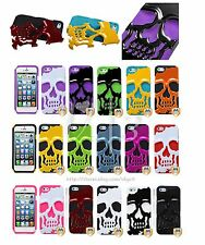 Skeleton Skull Dual Layer Hybrid Armor Hard Case Cover For Apple iPhone 6 PLUS