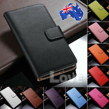 Colorful Genuine Real Leather Stand Wallet Flip Cover For HTC One M9 Case