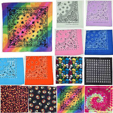 100% Cotton Soft Paisley Bandanas Double Sided Head Wrap Scarf Wristband