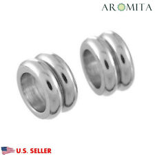 Wholesale Stainless Steel Double Circle Spacer Beads Jewelry Findings 11mm Dia