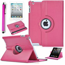 New Leather Cover Case 360 Rotating Fit iPad 2 3 4/ iPad Mini w/ film  Pen