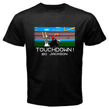 TECMO BOWL Bo Jackson Retro Classic Video Game Men's Black T-Shirt Size S-3XL