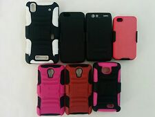 Heavy Duty Hybrid Series Case w/ Belt Clip For iPhone and Android