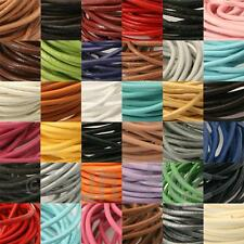 Round Genuine Real Hide Leather Lace Thong Cord 2mm Rope Jewellery Braiding Char