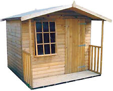 Apex Hobby House Shed 2ft With Veranda Heavy Duty Frame 16mm T&G Tanalised