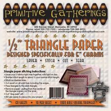 """Primitive Gatherings Triangle Paper Designed specifically for 5"""" Charms"""