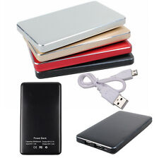 Portable 25000mAh Dual USB External Battery Power Bank Charger For iPhone 4S HTC